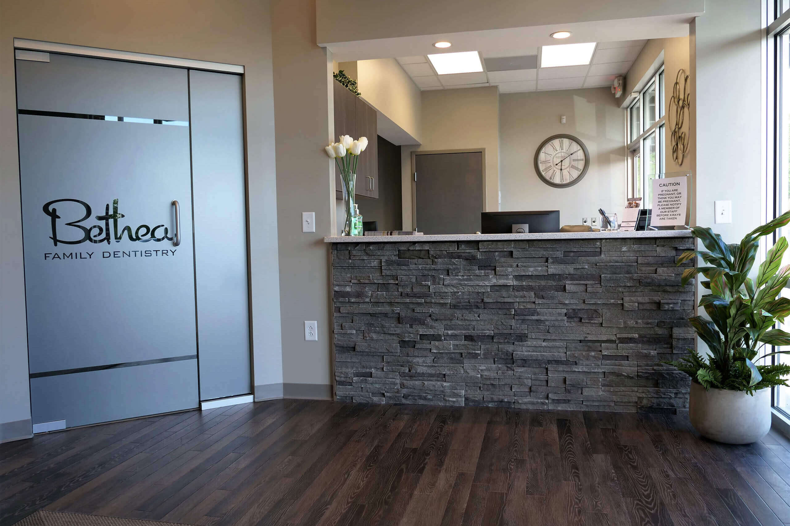 Front desk area inside Bethea Family Dentistry in Columbia, SC